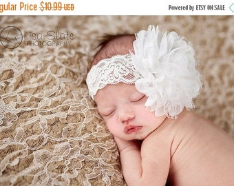 12% off Baby headband, newborn headband, adult headband, child headband and photography prop The single sprinkled- PURE Lace headband
