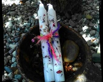 Botanical Alter Candles