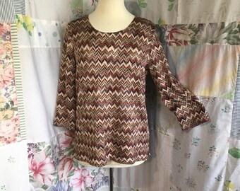MEDIUM, Sweater Top, Lightweight Knit Boho Bohemian Pullover Sweater*