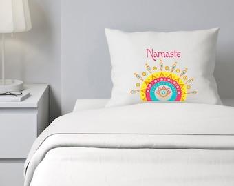 Custom Pillowcase, Namaste Pillowcase, OM, Yogo Personalized Pillowcase
