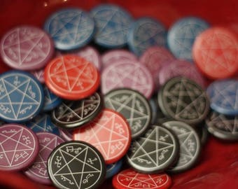 Devils trap - Button, Magnet, or Mirror