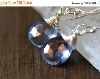 35% OFF mystic blue quartz earrings