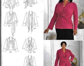 Simplicity 2598 Ladies Plus Size Khaliah Ali Wrap Cardigan 7 Styes Sewing Pattern UNCUT Size 18W, 20W, 22W, 24W