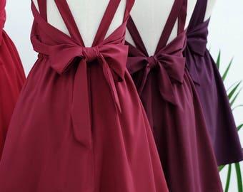 Burgundy dress burgundy party dress burgundy party dress burgundy prom dress backless dress burgundy bridesmaid dresses cocktail dress