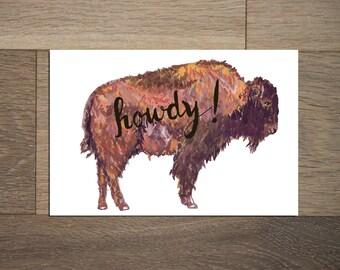 Buffalo postcard set - 8 pack