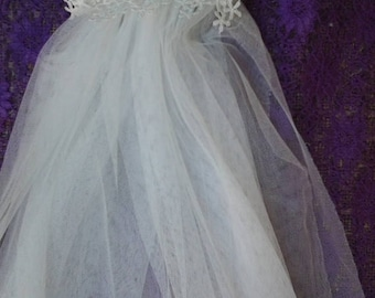 """20%OFF wedding bridal photoshoot bohemian 40"""" long double layer veil on fantasy comb..FREE SHIPPING"""