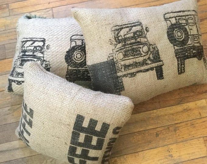 Coffee Bag Burlap  FJ40 Land Cruiser Land cruiser Pillow