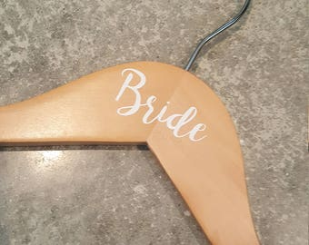 Bride, Wedding Dress Hanger, Bride Hanger