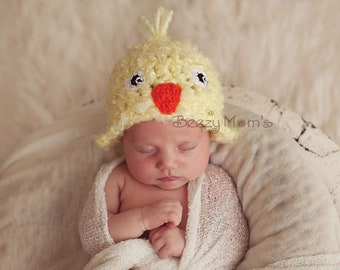IN STOCK Newborn Chick Hat, Baby Chick Hat, Baby Bird Hat, Baby Easter hat  - Photo prop