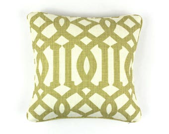 ON SALE Schumacher Kelly Wearstler Imperial Trellis in Citrine Pillows - (Both Sides - Made To Order)