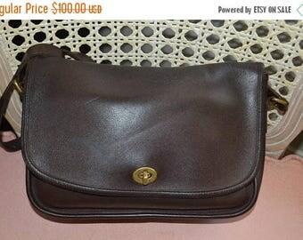 On Sale COACH~Coach Bag~ RARE 1980s~Vintage Coach City Bag~Brown Coach