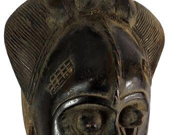 Baule Portrait Mask Kpan or Mblo Cote d'Ivoire African Art 101450