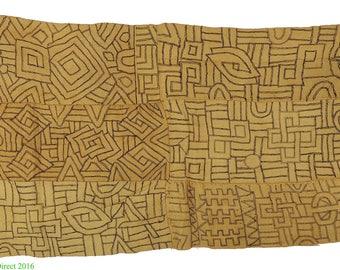 Kuba Raffia Textile Handwoven Congo African Art 111809