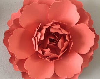 3D Wall Flower - Coral peony/ wall decor/ nursery decor/ wedding decor/ girl room decor