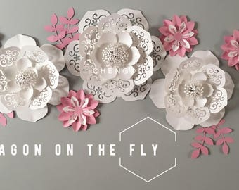 Large paper lace flower backdrop/ nursery paper flower/ nursery decor/ baby girl nursery decor/ shabby chic/ large paper flowers