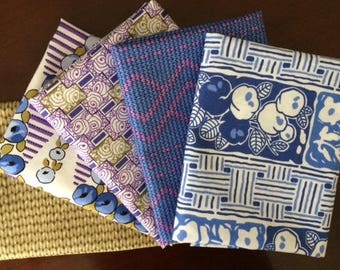 Lady Rose of Downton Abbey Fat Quarter Bundle of 5 by Kathy Hall for  Andover