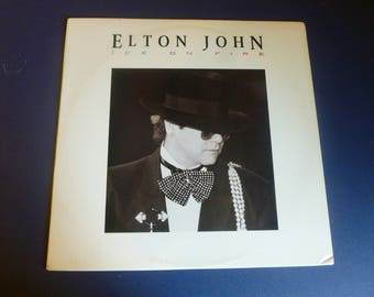 Elton John Ice On Fire Vinyl Record LP GHS 24077 Geffen Records 1985