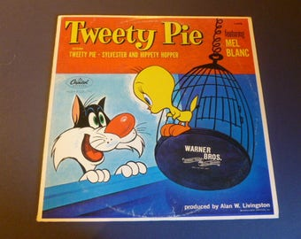 Tweety Pie Featuring Mel Blanc Vinyl Record LP L-6958 Capital Records 1974