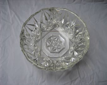 Vintage Cut Clear Glass Bowl/Trinket/Candy Dish