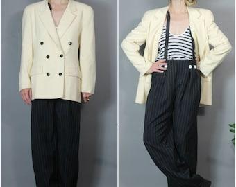 Vintage Christian Dior Suit Jacket 80s Power Suit
