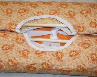 Casserole Carrier With Peachy Cream Colors