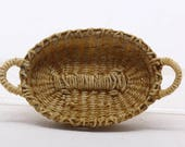 Miniature oval woven tray 1:12th scale