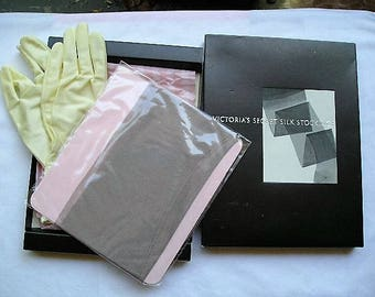 Victoria Secret French 100% Real Silk Stockings
