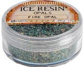 Ice Resin Opal inclusions, Fire Opal, .25 ounce jar