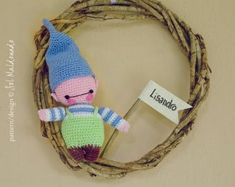 Amigurumi Crochet Pattern PDF - Elf doll Crochet Pattern - nursery decor, newborn gift, christmas ornament amigurumi - Instant DOWNLOAD