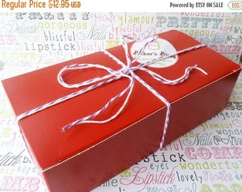 GLAMSALE Red Party Favor Boxes, Wedding Favor Boxes, Candy Boxes, Cookies Boxes, Gift Boxes, Medium Party Favor Boxes - 24 Ct.