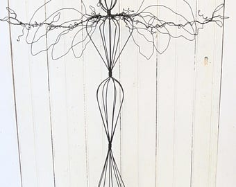 Tall Wire Angel Sculpture - Jewelry Hanger