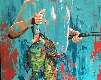 Boy Fishing Painting - Summer Catch