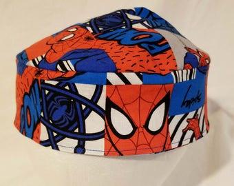 Spiderman Original Style Kippah Yarmulke Cotton Washable Reversible Spidey Superhero
