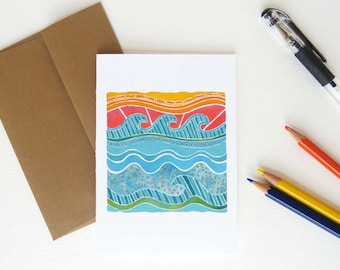 Surf notecards, thank you cards, or the perfect beach gift!