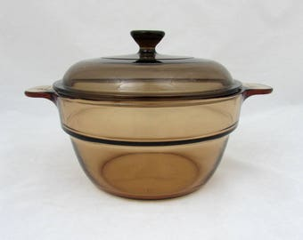Corning Vision Insert V-20-B with Lid - 1980s - Double boiler Insert - Baking & Casserole Dish
