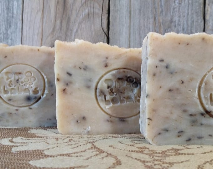 Chamomint Tea Soap (Chamomile Peppermint) -- All Natural Soap, Handmade Soap, Chamomile, Peppermint, Hot Process, Vegan Soap, Free Shipping