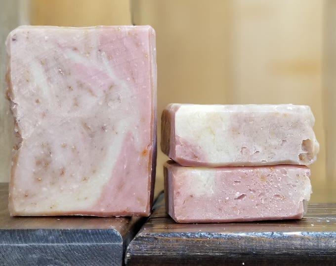 Grapefruit Love - Grapefruit essential oil soap, all-natural, handmade, vegan, barely-scented soap. Free Shipping.