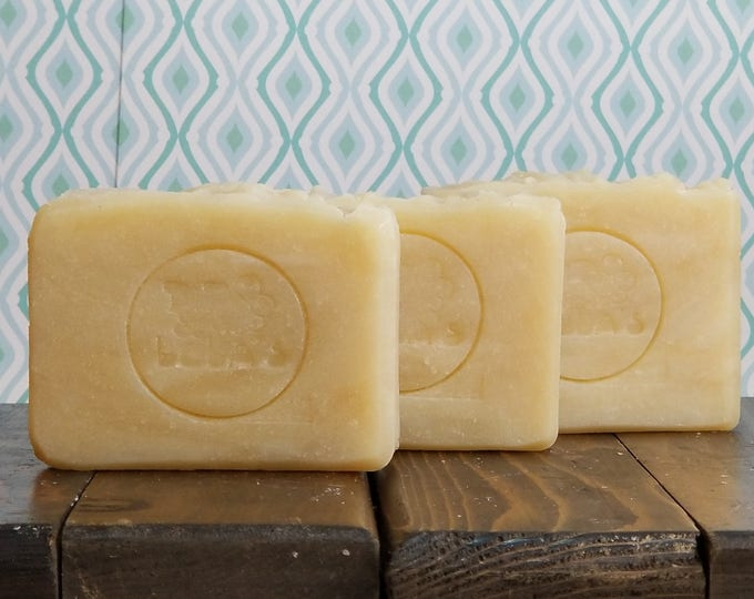 Emma Bovary - Goat Milk Cocoa Butter Soap -- Handmade, Unscented, Hot Process, Vegetarian, Goat Milk Soap, Free Shipping