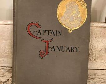 Vintage Children's Book - Captain January - 1893