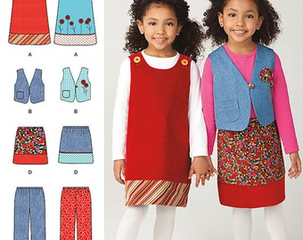 NEW Girls Jumper Pants and Skirt Pattern Simplicity 1568A