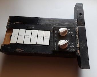 Salvage Hammond B3 tech board   music room decor   Hammond B3 organ parts   restoration B3 organ   black rustic wall decor   rustic black