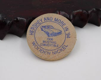 Vintage Indian Head Wooden Nickel Hershey Pennsylvania Fall AACA Antique Car Show  DR1