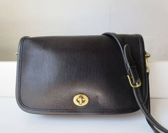 Coach 9755 Black Vintage Leather Cross body Bag