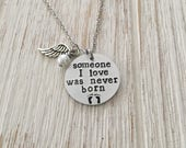 Infant Loss Jewelry, Memorial Necklace, Pregnancy Loss, Miscarriage Jewelry, Stillborn, Baby Loss, Remembrance, Sympathy Gift, In Memory of