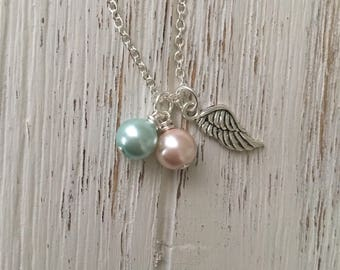 Miscarriage Jewelry, Pregnancy Loss, Infant Loss, Memorial Necklace, Remembrance Keepsake, Angel Wing Necklace, Miscarriage Necklace, Angels