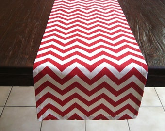 Red Zig Zag Modern Trendy Wedding/Buffet/Party Decor Chevron  Table Runner 12x100