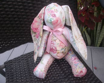 shabby patchwork floral bunny