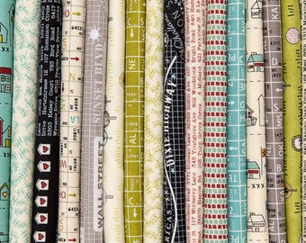 Road 15 Fat Quarter Bundle, 26 Pieces, Sweetwater, Moda Fabrics, 100% Cotton Fabric, 5520