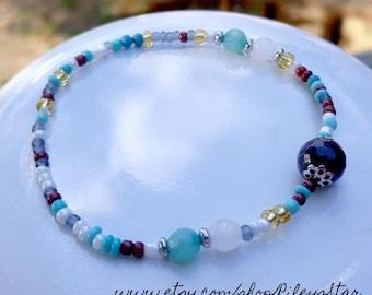 Tiny Beaded Indian Inspired Bracelet