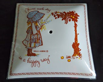 Vintage Holly Hobbie Ceiling Lamp Shade 1970s Light fixture